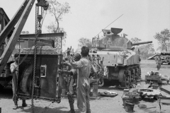 5thIndian-ShermanRepair-Taungtha 29 March-1945